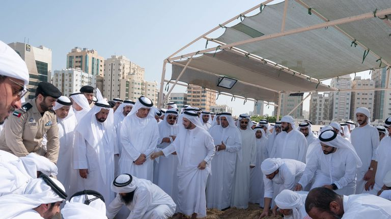 The designer was laid to rest on Wednesday morning in Sharjah