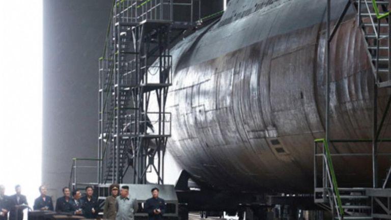 Kim Jong Un inspects a submarine