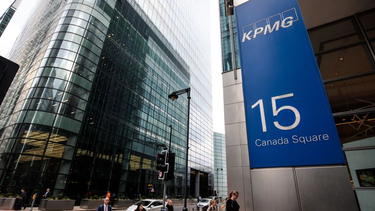 KPMG's head office is at Canary Wharf