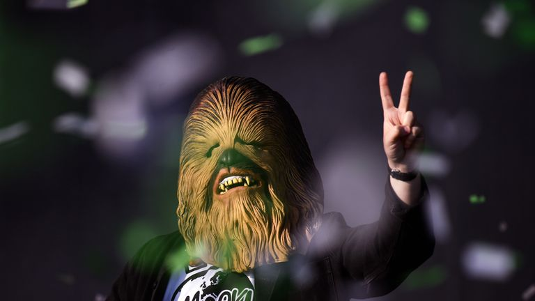 'Don't Chewbac In Anger': Lewis Capaldi performed as the Wookiee as part of his feud with Noel Gallagher