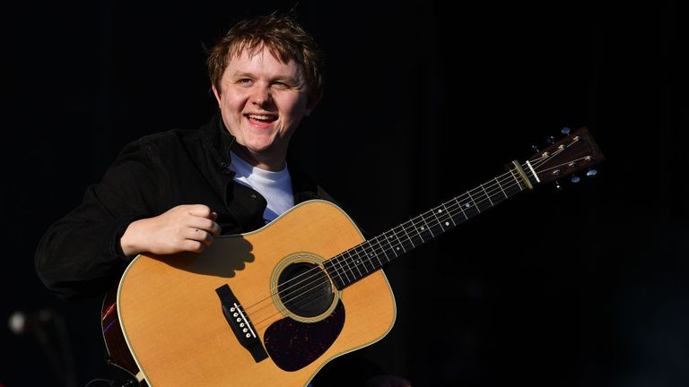 Lewis Capaldi performed on the main stage at TRNSMT in Glasgow