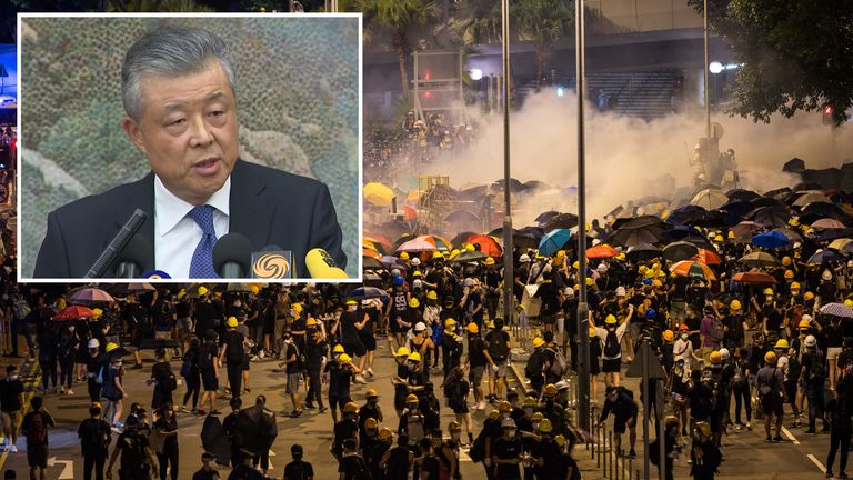 Liu Xiaoming accused the UK of 'interfering' in China's affairs in Hong Kong