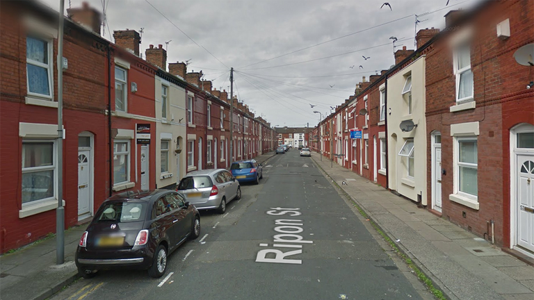 The incident happened on Ripon Street in Liverpool