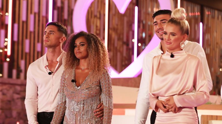 Greg O'Shea and Amber Gill are announced winners of Love Island 2019. Tommy Fury and Molly-Mae Hague are runners-up