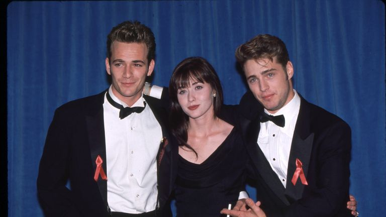 Luke Perry, Shannen Doherty and Jason Priestley - Beverly Hills 90210