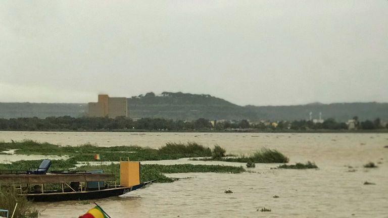 River Niger running through Bamako