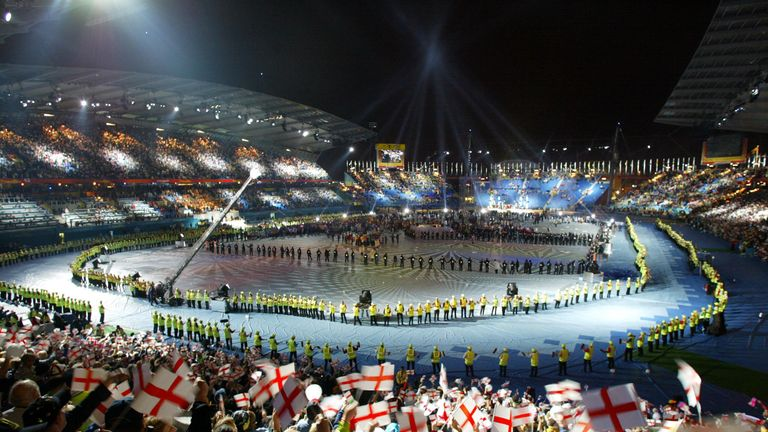 The closing ceremony at the 2002 Commonwealth Games
