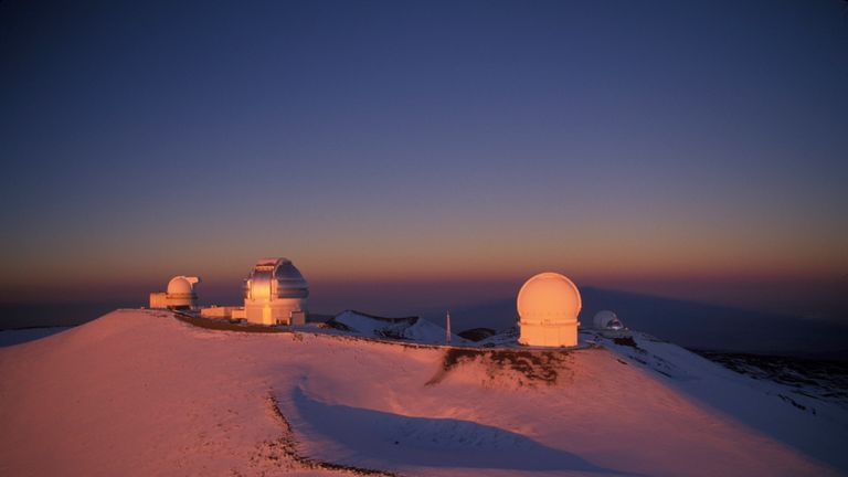 There are some observatories already on Mauna Kea