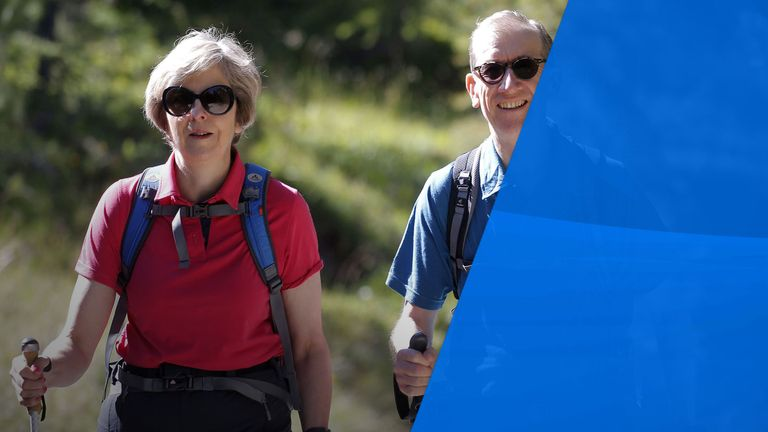 Theresa May and husband Philip enjoy walking holidays