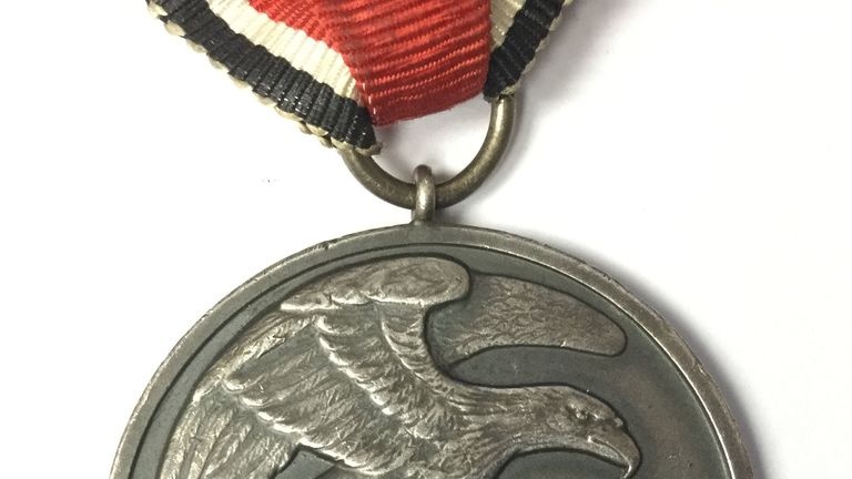 The medal went for nine times to asking price