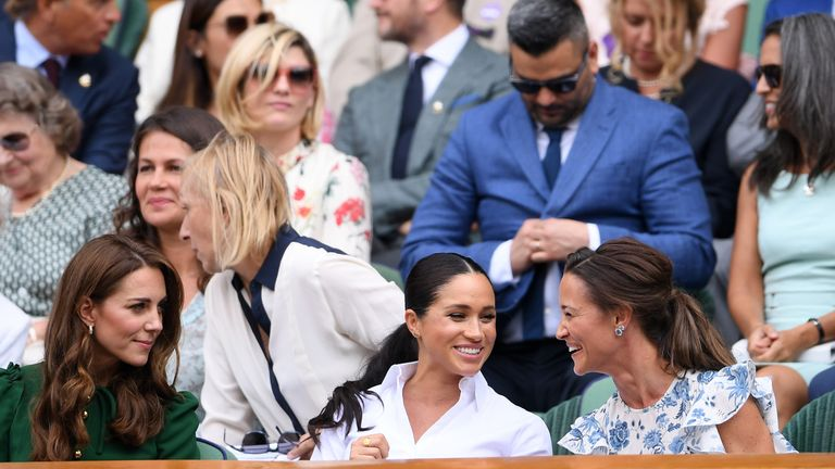 Serena Williams' close friend the Duchess of Sussex watched the final, along with the Duchess of Cambridge and her sister Pippa Middleton