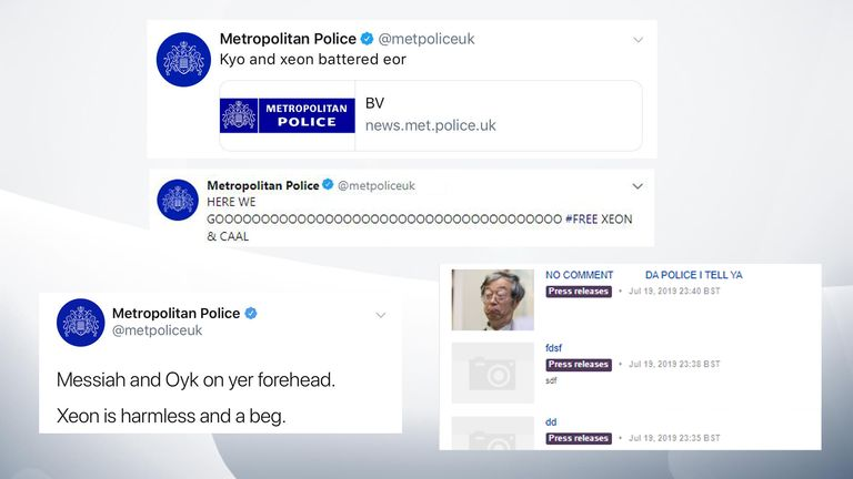 More messages from the the Metropolitan Police's Twitter hack