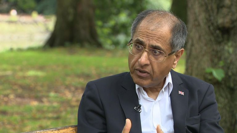 Mohammed Amin, former chairman of the Conservative Muslim Forum