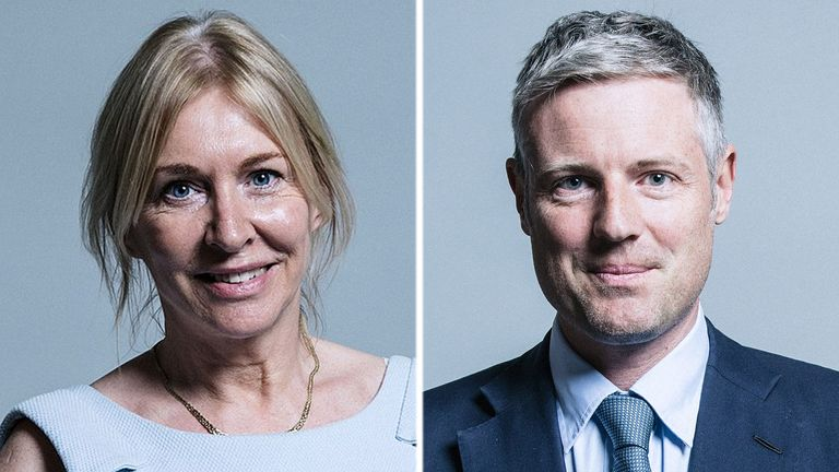 Nadine Dorries and Zac Goldsmith have been given ministerial appointments