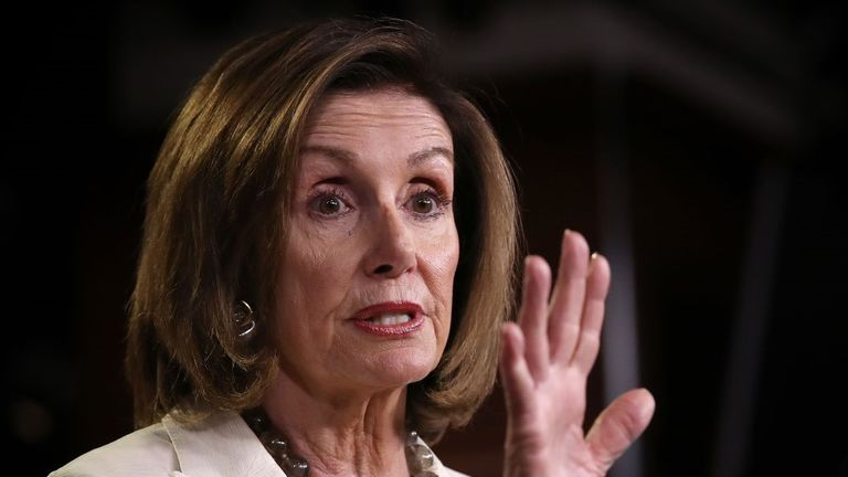 Nancy Pelosi has said the US president wants to 'make America white again'