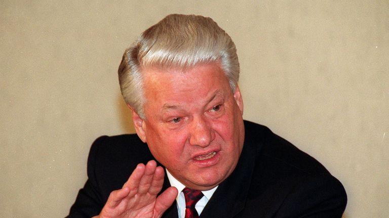 Former Russian President Boris Yeltsin in 1992