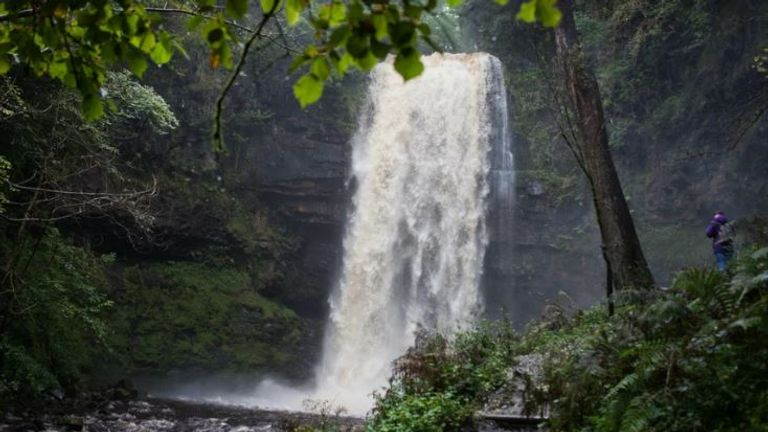 Henrhyd Falls is the highest waterfall in South Wales. Pic: nationaltrust.org.uk