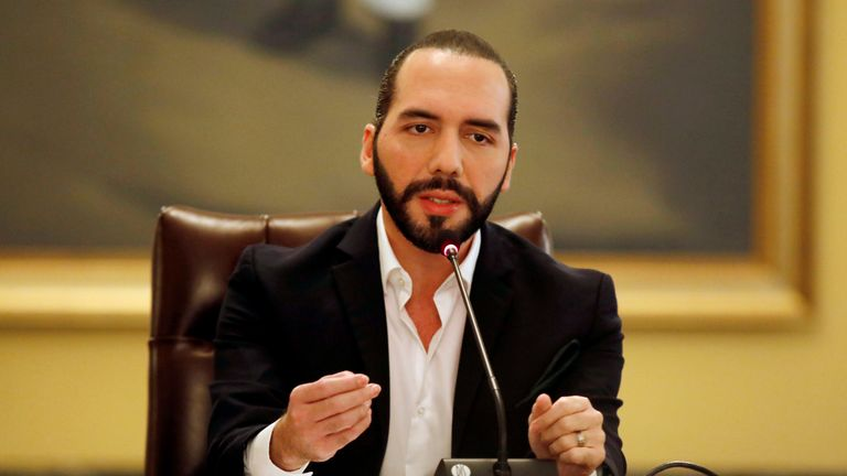 New Salvadoran President Nayib Bukele participates in his first cabinet council in San Salvador, El Salvador June 2, 2019. REUTERS/Jose Cabezas/File Photo