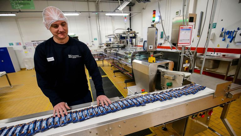 In a world first, YES! snack bars will be wrapped in a high-speed 'flow wrap cold seal' process