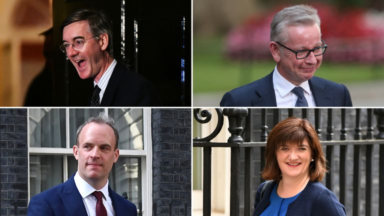 Jacob Rees-Mogg, Michael Gove, Dominic Raab and Nicky Morgan all have new roles