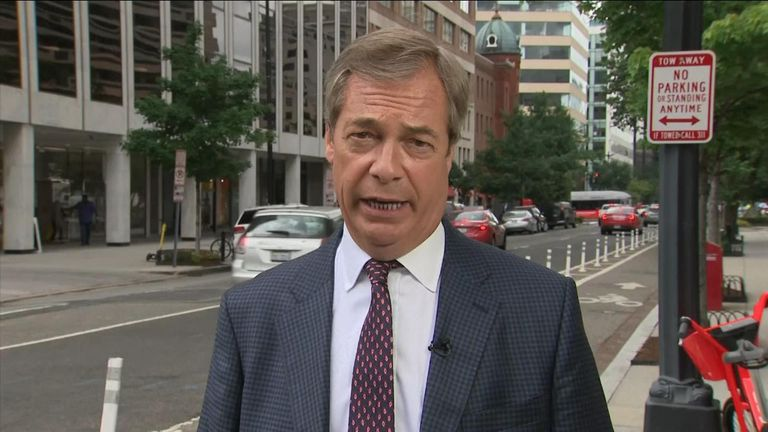 Brexit Party Leader Nigel Farage told Sky News he does not think Boris Johnson will be able to deliver Brexit by 31st October unless he calls a general election.
