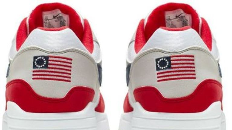 The Air Max 1 USA (2019) contains a controversial flag so Nike pulled them from sale. Pic: Nike