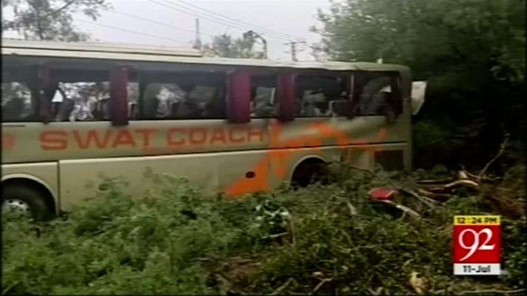 Another 34 people were injured in the bus crash
