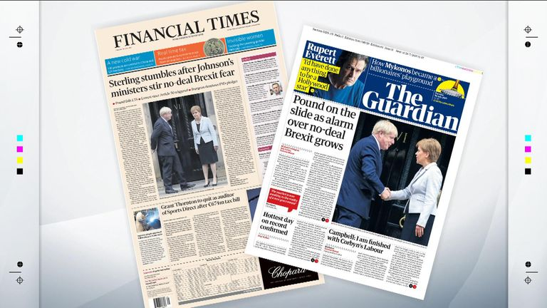 Tuesday's national newspaper front pages   UK News   Sky News