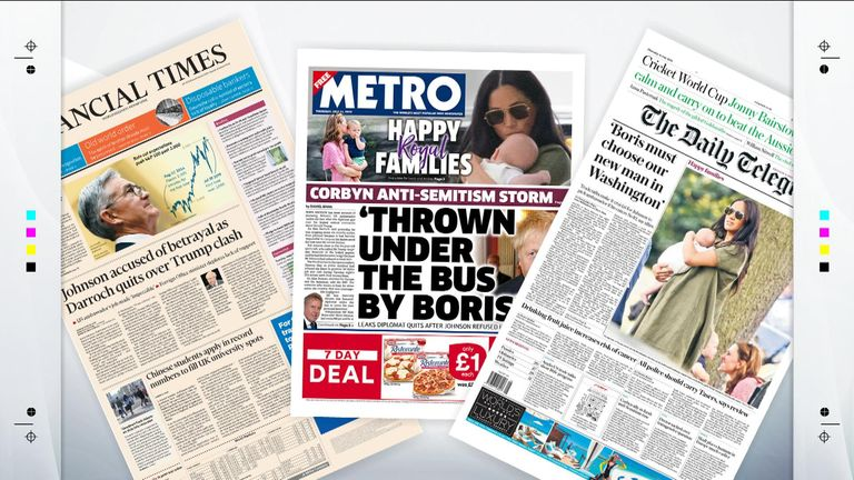 Thursday's papers