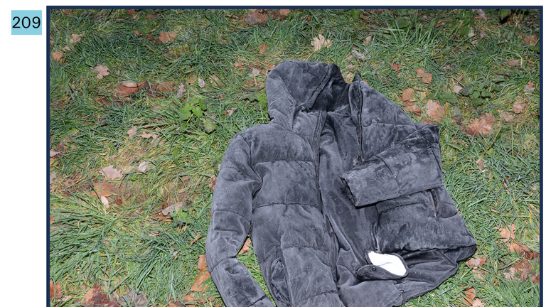 A photo of Pencille's jacket was taken from the field where it was found. Pic: British Transport Police