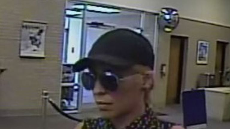 A picture of the 'bandit' issued by the Bureau. Pic: FBI Charlotte
