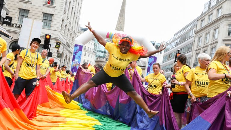 As many as 1.5 million people are expected to attend Pride in London