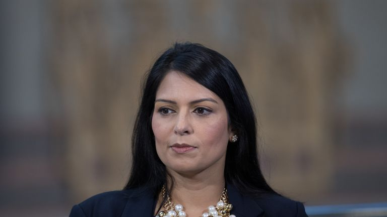BIRMINGHAM, ENGLAND - OCTOBER 02: Priti Patel, Secretary of State for International Development, is interviewed for TV at the 2016 Conservative Party Conference, which opens today at the ICC Birmingham on October 2, 2016 in Birmingham, England. Prime Minister Theresa May has used the opening day of the 2016 Conservative conference to announce that Article 50, to begin the UK's exit from the EU, will be triggered by the end of March 2017. (Photo by Matt Cardy/Getty Images)
