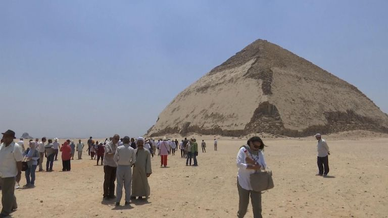 Egypt has opened two of its earliest pyramids, located about 25 miles (40 kilometres) south of the capital Cairo, to visitors for the first time since 1965.