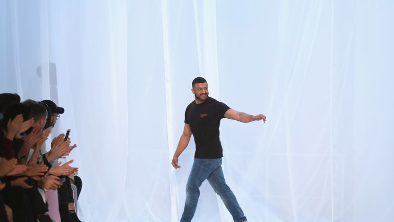 Khalid Al Qasimi at his show during London Fashion Week in June 2018