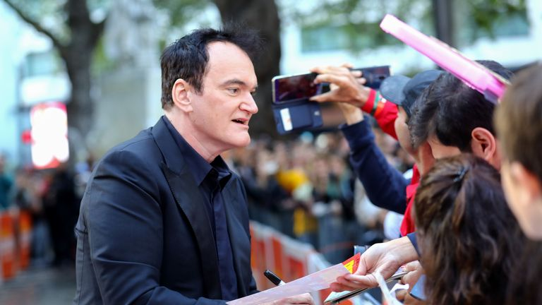 Quentin Tarantino attends the UK Premiere of Once Upon A Time...In Hollywood at Odeon Luxe Leicester Square on July 30, 2019 in London