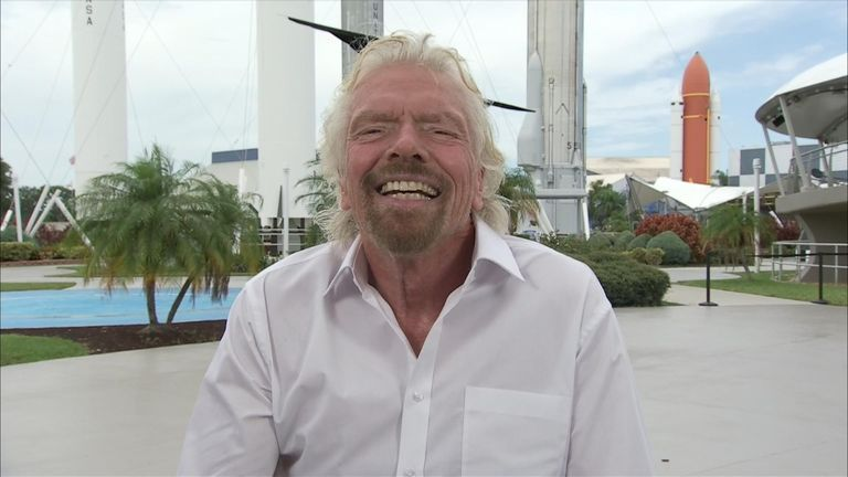 Sir Richard Branson has told Sky News he'll be going into space before tickets are sold to the public.