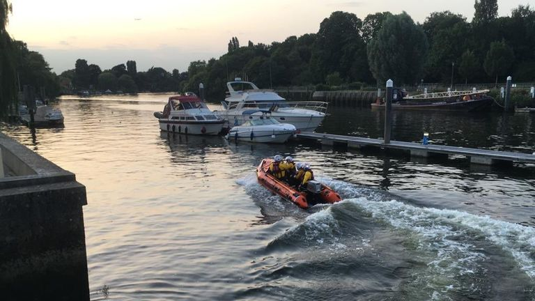 Rescue teams were sent out to find the missing swimmers. Pic: Teddington RNLI
