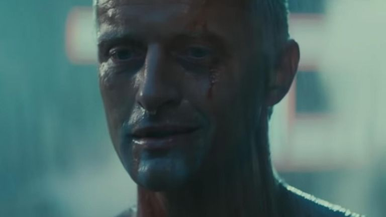 Rutger Hauer delivers his famous 'tears in the rain' lines in Blade Runner