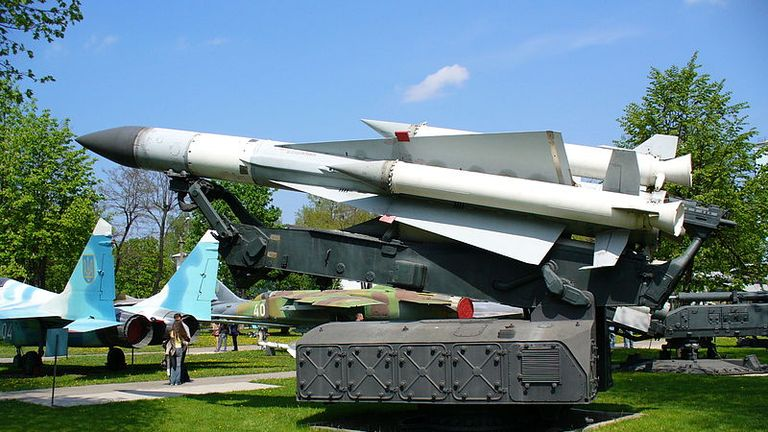 A file picture of a Russian-made S-200 missile. Pic: Wikicommons/George Chernilevsky
