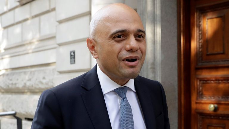 Sajid Javid appointed new chancellor