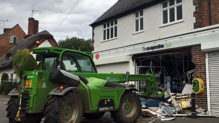 Village store smashed by ram-raiders targeting cash machine