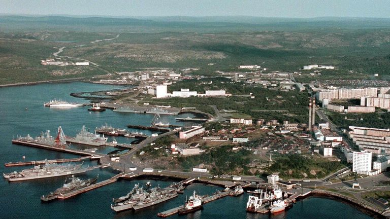 The Russian Navy Base in Severomorsk. File pic