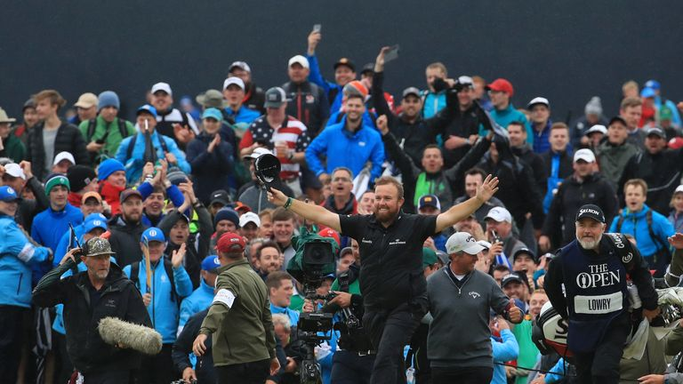 There were jubilant scenes as Shane Lowry sealed his emphatic victory