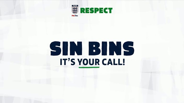 Sin bins are coming to grassroots football