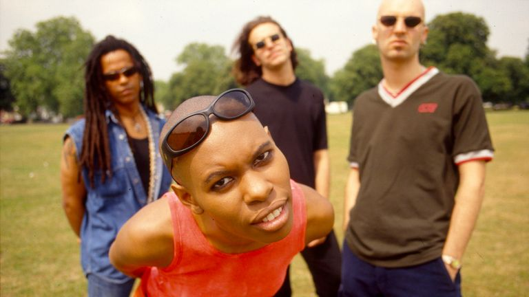 Skunk Anansie pictured in 1995