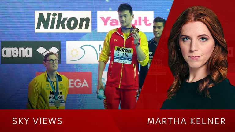 Mack Horton refused to stand on the podium with China's Sun Yang