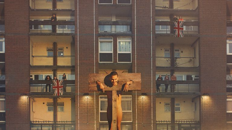 Mercury Prize 2019 nominee slowthai's album cover, Nothing Great About Britain