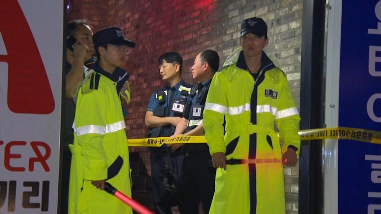 A floor has collapsed at a nightclub in South Korea, killing two