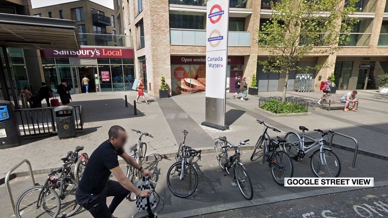 The attack happened in broad daylight in Southwark. Pic: Google Maps